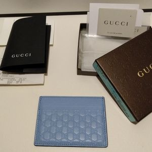 Gucci GG Microguccissima Card Holder Wallet